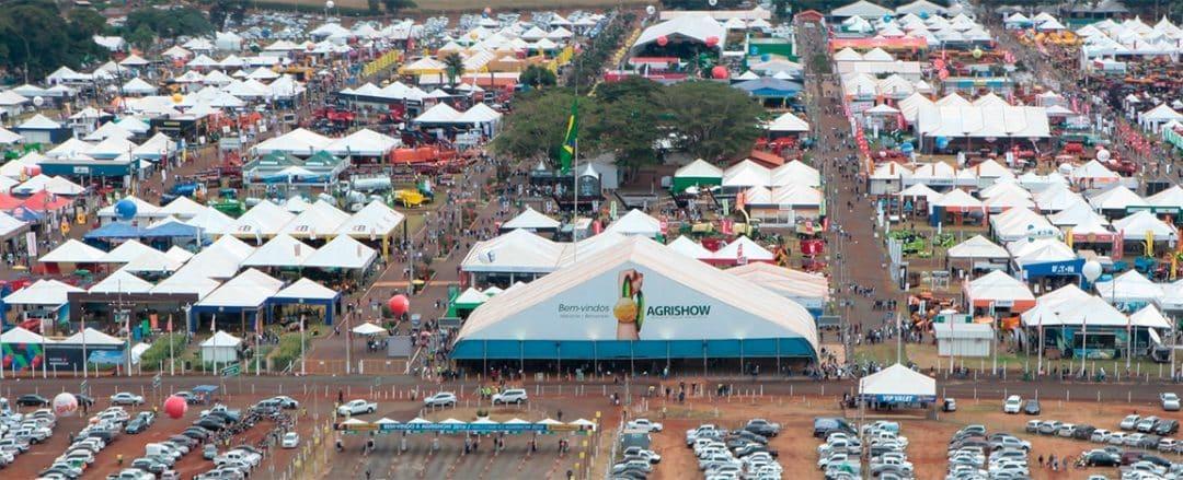 Imagem aérea da feira Expozebu
