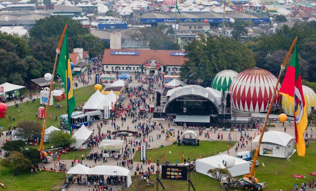 Imagem aérea da feira Expodireto Cotrijal