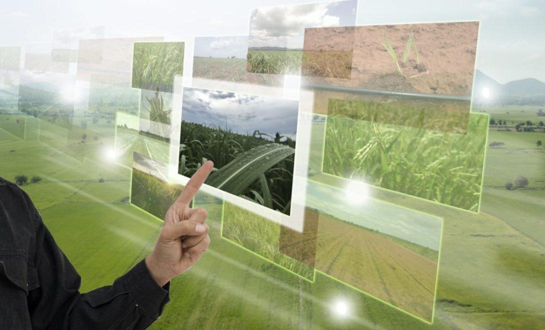 Ilustração de uma fazenda tecnológica