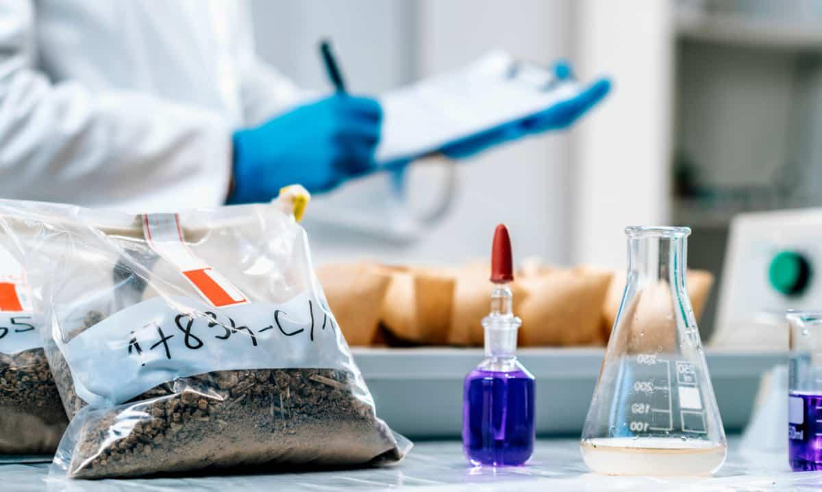 Análise de solos em laboratório