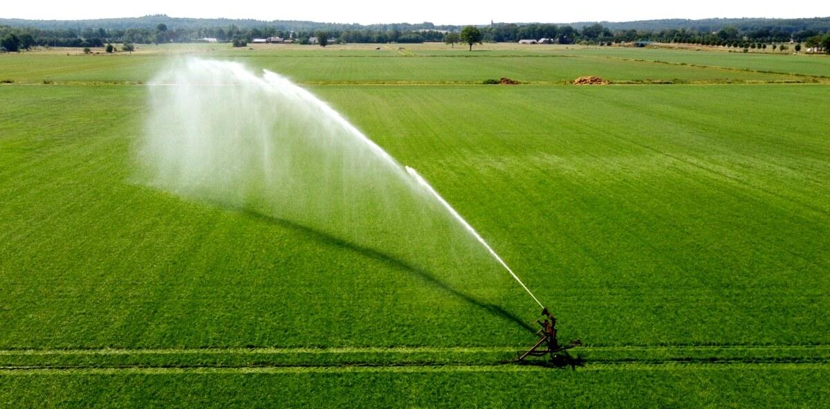 Pivô de irrigação por aspersão