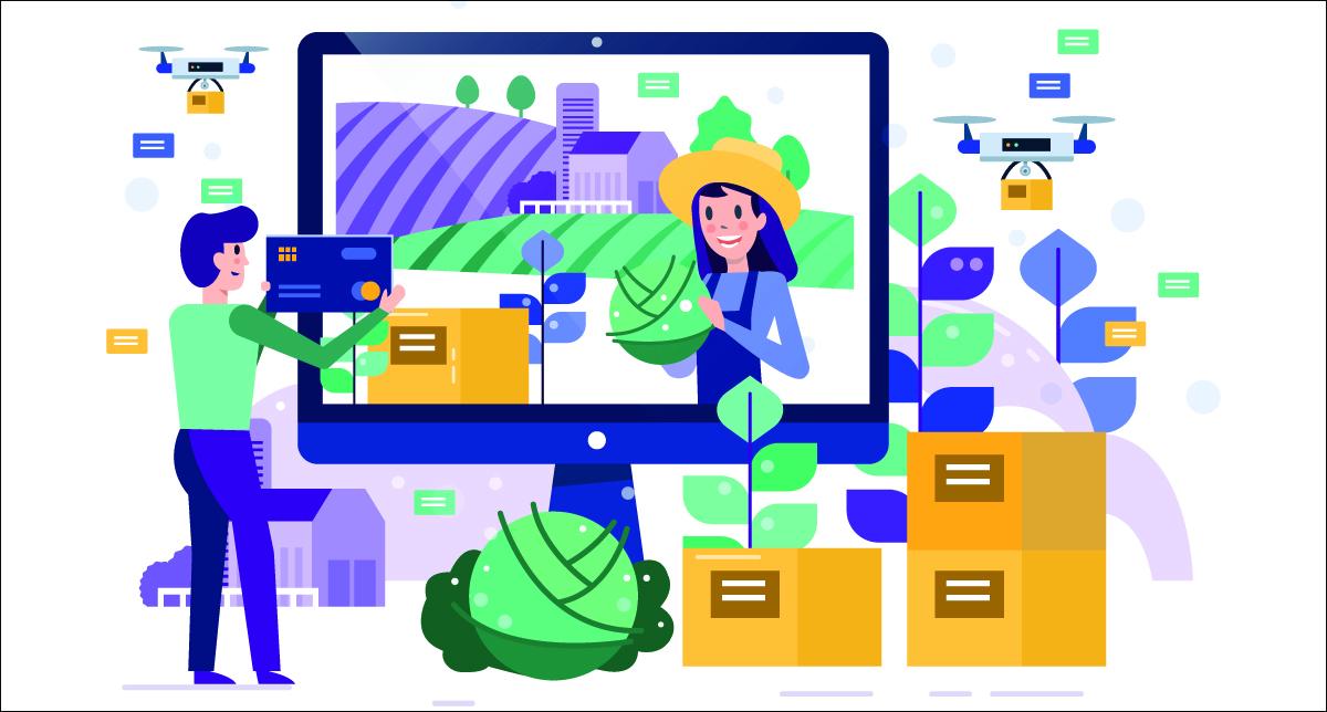 Ilustração mostra importância da internet no agronegócio