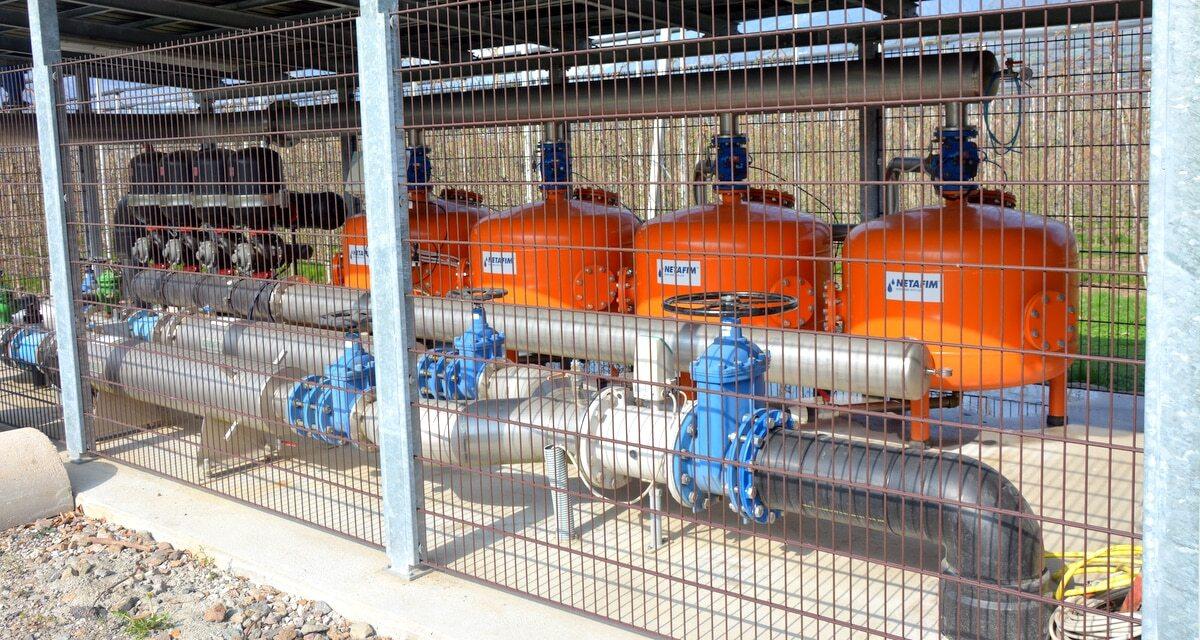 Sistema de filtros na irrigação por gotejamento