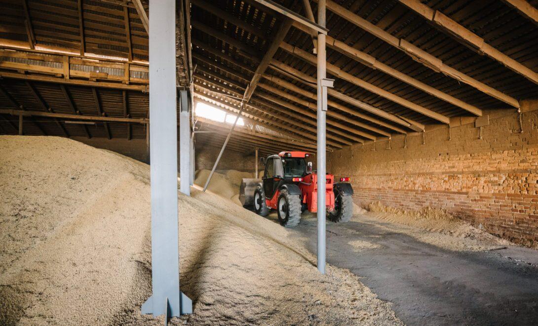 Armazenamento de soja à granel