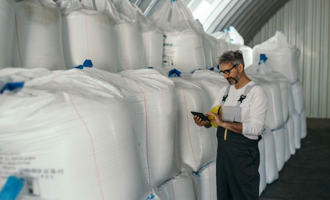 Verificação da qualidade dos grãos durante armazenamento